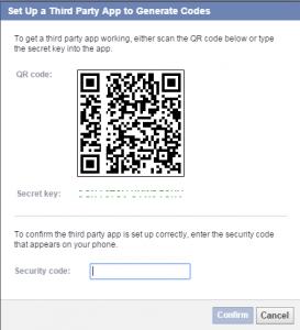 Bảo vệ tài khoản Facebook bằng Code Generator