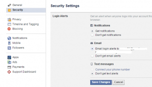 Bảo vệ tài khoản Facebook bằng cách nhận thông báo đăng nhập